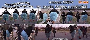 Amazon SSBBW Ms Assalot Walking n basketball
