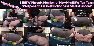 SSBBW Phoenix Big butt vs the balloons