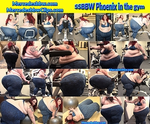 SSBBW Phoenix in the gym